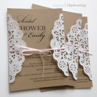 Elegant Country Bridal Shower Invitations + Tutorial