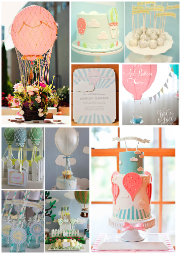 whimsical clouds and hot air balloons for baby and combining it with