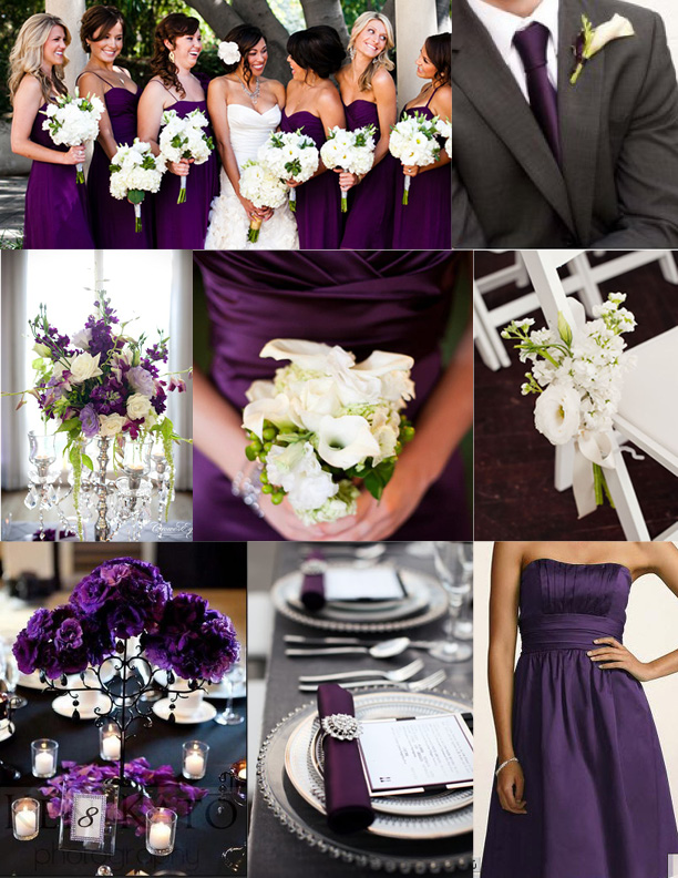purple and gray wedding decorations inspiration wednesday purple wedding ideas perpetually 6869