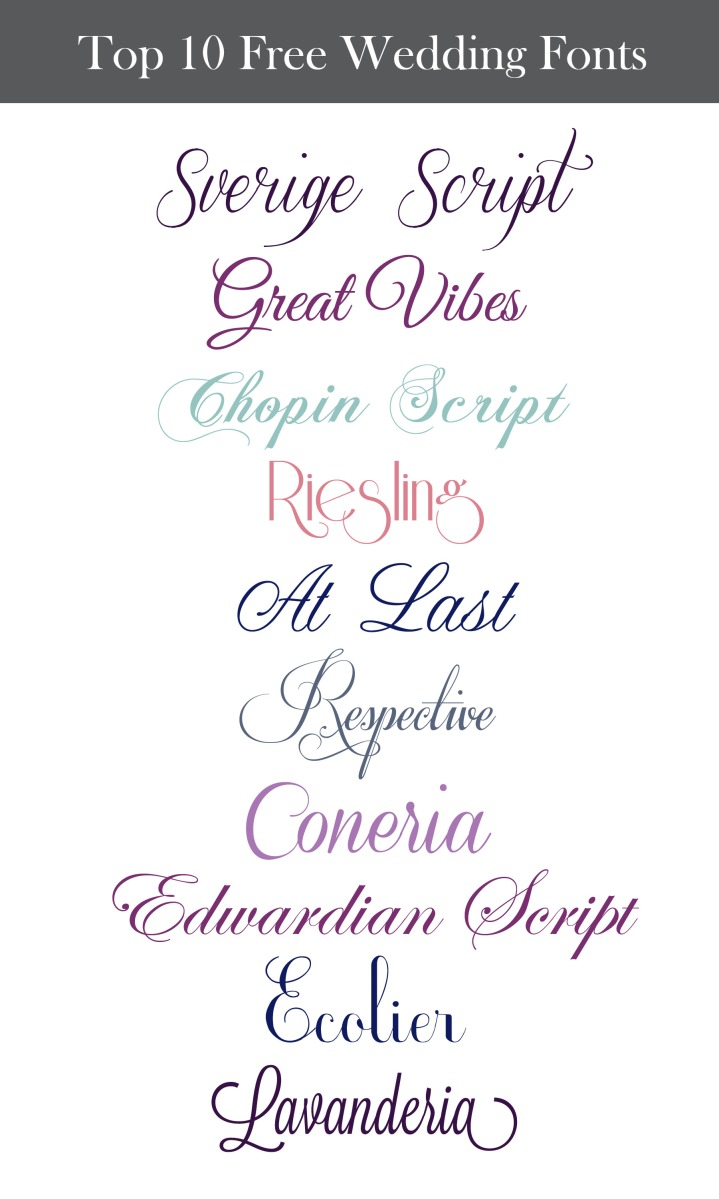 Inspiration Wednesday: Free Wedding Fonts