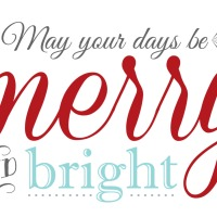 Free 'Merry & Bright' Christmas Printable