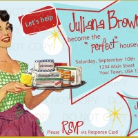 IW: 50s Housewife Bridal Shower Ideas