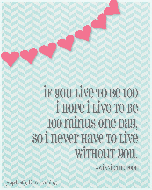 Free Printable Valentine S Quote: Free Valentine's Printable