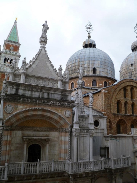 Inside the Doge's Palace - with a view of the basilica and campanile