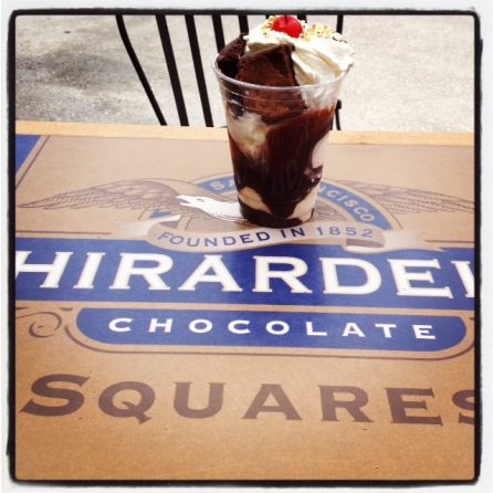 Our delish brownie sundae