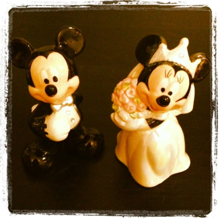 """Our Bride and Groom """"ornaments"""""""