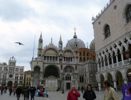 Side view of St.Mark's Basilica