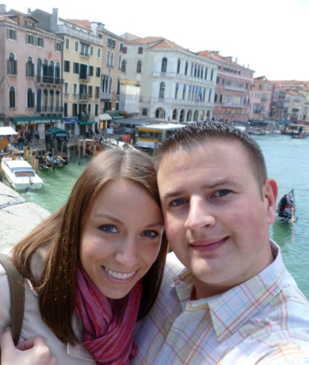M and I on the Rialto Bridge