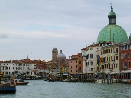 Our first view of the Grand Canal!