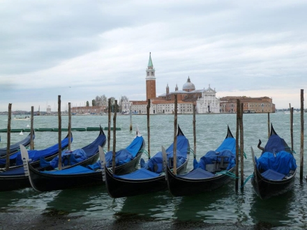 View from St. Mark's looking out to San Giorgio Maggiore