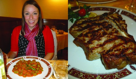 Our dinner. Don't mind my clashing scarf/sweater combo. I only brought 1 scarf ppl and I was freezing!