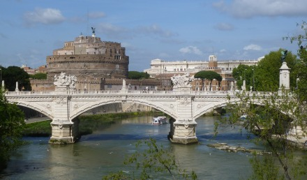 Castel Sant'Angelo on our walk along the Arno