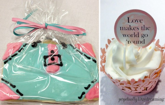 Travel Bridal Shower Luggage Cookie Cupcake