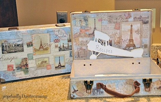 Travel Bridal Shower Luggage Recipe Box
