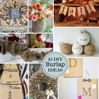 15 DIY Burlap Craft Ideas